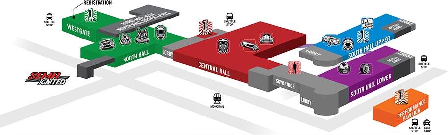 SEMA Show Map